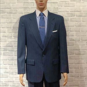 Christian Dior Wool Pinstripe 2 Pc. Suit Navy 40R